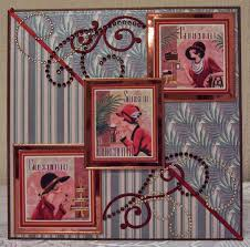 whitch craft art deco birthday card for her