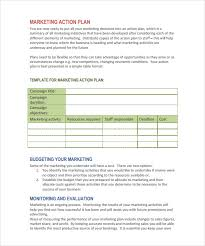sample marketing action plan template 14 documents in pdf