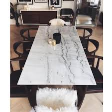 White Marble Dining Tables Corra Modern White Marble Brushed Steel Dining Table Kathy Kuo Home