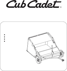 cub cadet lawn sweeper sw 15cc user guide manualsonline com