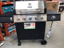 home depot spring black friday tide dyna glo 5 burner gas grill with side burner only 149 00 at home