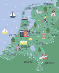 Holland Map Sara Maese The Netherlands Go Pinterest Netherlands And
