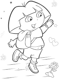 popular character free coloring activity dora the explorer