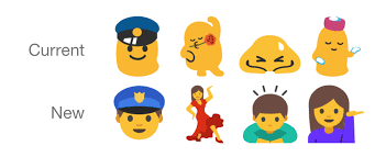 android n beginning to get new emoji change old ones