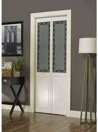 Interior Bifold Doors With Glass Inserts Glass Inserts For Custom Interior Doors In Bifold Closet With