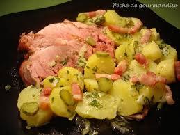 cuisiner la palette de porc la schiffala palette de porc fumée et sa salade de pommes de terre