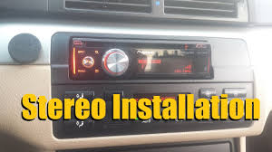 how to install a car stereo car deck head unit installation