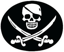 printable skull and bones stencil pirate skull and crossbones