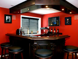 l shaped bar table corner bar design for home designs with red wall and l shaped woodeb