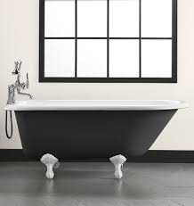 Clawfoot Tub Fixtures 5 U0027 Clawfoot Tub With Black Exterior Rejuvenation