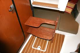 wooden boat step teak isle mfg