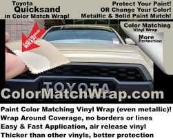 toyota quicksand 4v6 available in paint color matching vinyl wrap