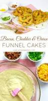 video bacon cheddar u0026 onion funnel cakes lindsay ann bakes