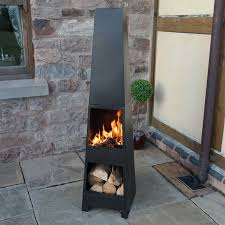 patio heaters ebay chimenea outdoor garden pyramid chimnea patio heater wood burner