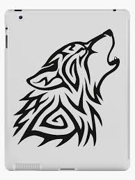 tribal wolf howl cases skins by hareguizer redbubble