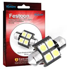 amazon com de3175 led light bulb yorkim 4pcs white error free