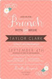 bridal brunch invites coral chevron floral bridal brunch invitation bridal shower