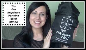 Portable Blackout Blinds Gro Anywhere Portable Blind Review U0026 Giveaway Youtube