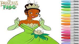 princess frog tiana coloring book pages disney princess