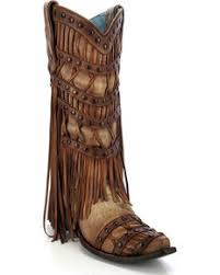womens corral boots size 11 corral fringe boots sheplers