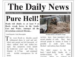 flood newspaper report with comprehension uk by benserghin