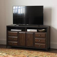Media Console With Hutch Rustic Wood Matteo Media Console With Hutch