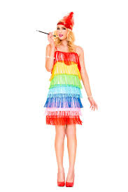 rainbow fringe flapper woman costume 51 99 the costume land
