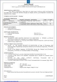 resume format for freshers electronics and communication engineers pdf free download resume blog co beautiful one page resume cv sle in word doc