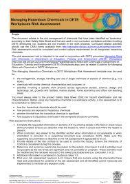chemical risk assessment template