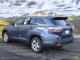 colors for toyota highlander 2016 shoreline blue pearl toyota highlander limited platinum awd