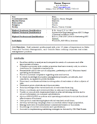 collection of solutions sample resume for mba marketing experience