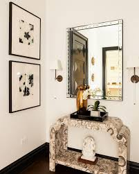 White Foyer Table White And Gray Console Table With Black Lacquer Tray