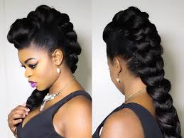 faux braided mohawk on natural hair hairdos pinterest
