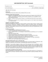 Emt Resumes Sample Emt Resume