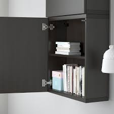 how are ikea wall cabinets bestå wall cabinet with 2 doors lappviken black brown 60x22x128 cm