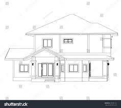 Home Design Stock Images by Drawings Design House No Color Stock Vector 334341113 Shutterstock