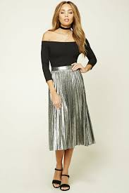 pleated skirt forever 21 metallic pleated skirt forever 21 fall and winter fashion