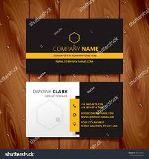black dark business card modern design stock vector 331439237