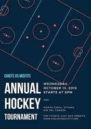hockey poster templates canva