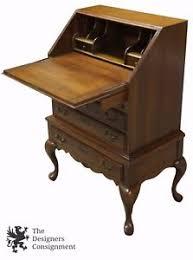 Cherry Secretary Desk by Vintage Distressed Cherry Queen Anne Secretary Writing Desk Chest