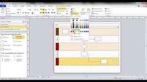 How To Do A Floor Plan In Word by Create A Swim Lane Flowchart In Visio Youtube