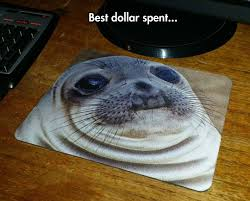 Awkward Seal Meme - funny picture mouse pad seal cheap jpg