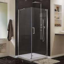 800 Pivot Shower Door by Dreamline Elegance 30 In W X 30 In D X 72 In H Semi Frameless