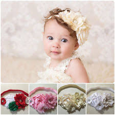 baby headband baby headbands flower crochet pastel ebay