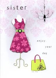sister pretty dress handmade happy birthday card cards love kates