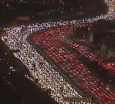 thanksgiving traffic gridlock in l a pics