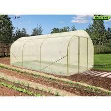 serre tunelle de jardin tunnel primavera 18m serre de jardin nortène pas cher