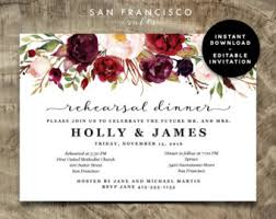 Rehearsal Dinner Invitations Etsy Rehearsal Dinner Invitations Stephenanuno Com