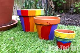 Garden Crafts For Kids - garden crafts for kids flower pots red ted art u0027s blog