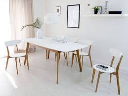White Extending Dining Tables Kitchen Contemporary Kitchen Chairs With 11 Aver Oak And White